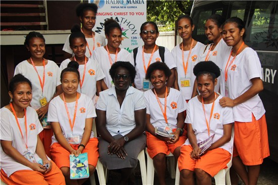 Marrianville Secondary School students with Mrs  Hasola